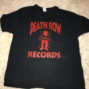 Death Row Records Logo XL T-Shirt, Black